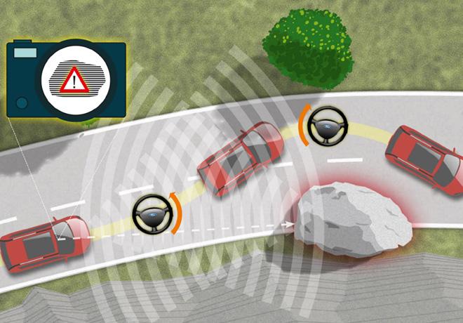 Ford - pruebas con un vehiculo que elude obstaculos automaticamente