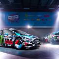 Ken Block presento su nuevo Ford Fiesta para la temporada 2014