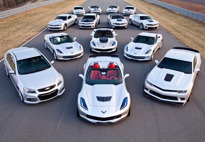 Chevrolet ofrecera 14 modelos de alto rendimiento con una potencia que oscila entre 323 y 625 CV