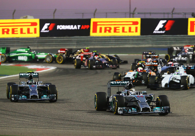 F1 - Bahrein 2014 - Lewis Hamilton y Nico Rosberg - Mercedes GP