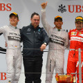 F1 - China 2014 - Rosberg Hamilton y Alonso en el Podio