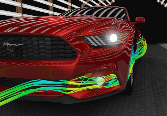 Ford revelo el trabajo de aerodinamia que realizo para el Nuevo Mustang