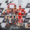 MotoGP - Austin - Pedrosa - Marquez - en el Podio