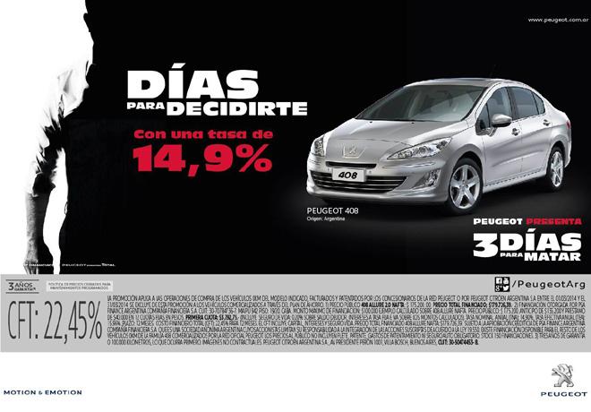 Peugeot - 3 dias para decidirte