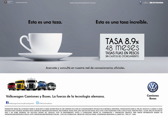 VW Camiones  Buses - Financiacion tasa 8,9 porciento