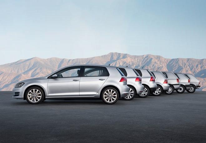 VW - siete generaciones de Golf
