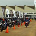 Corven Motos - llegada del Club Bajaj a la planta