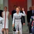 F1 - Monaco 2014 - Hamilton - Rosberg - Ricciardo en el Podio