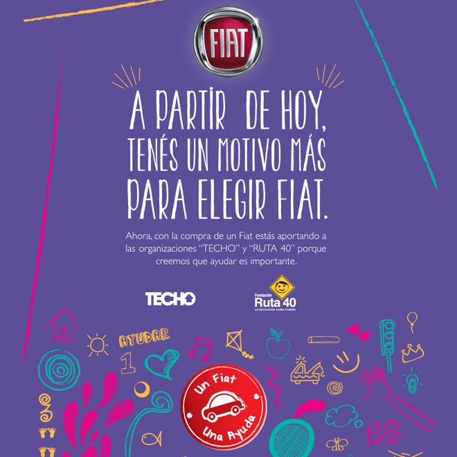 Fiat presenta el programa -Un Fiat, una ayuda-
