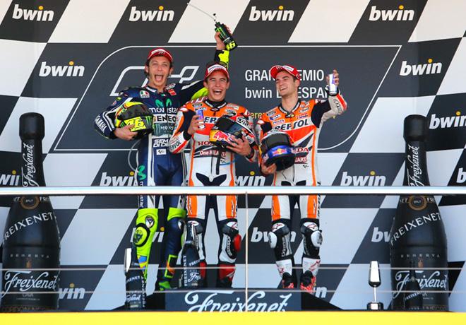 MotoGP - Jerez - Rossi - Marquez - Pedrosa en el Podio