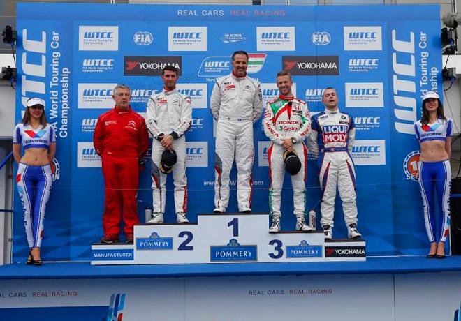 WTCC - Hungaroring - El Podio de la carrera 1