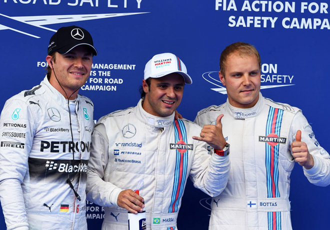 F1 - Austria 2014 - Clasificacion - Rosberg - Massa - Bottas