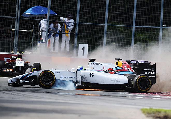 F1 - Canada 2014 - toque entre Perez y Massa