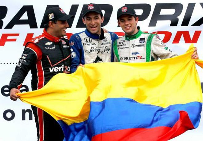 IndyCar - Houston - Carrera 1 - Podio Colombiano
