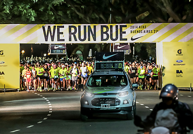 La Nueva EcoSport acompaño a los corredores en la carrera We Run Bs As 2014