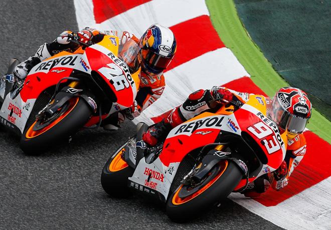 MotoGP - Catalunya - Marc Marquez y Dani Pedrosa - Honda