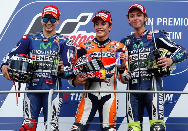 MotoGP - Mugello - Lorenzo - Marquez - Rossi en el Podio