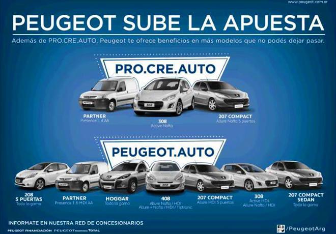 Peugeot apuesta fuerte a Pro.Cre.Auto