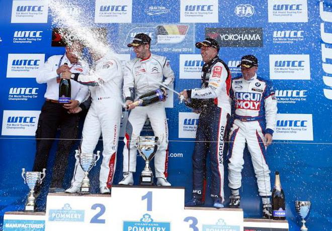 WTCC - Belgica - El Podio de la carrera 2