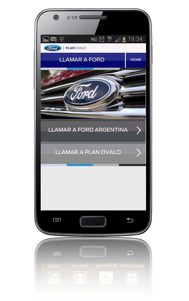 Ford - nueva aplicacion para clientes del Plan Ovalo