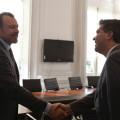 GM - Dan Ammann (Presidente de GM a nivel mundial) y Jorge Capitanich (jefe de Gabinete de la Nacion)