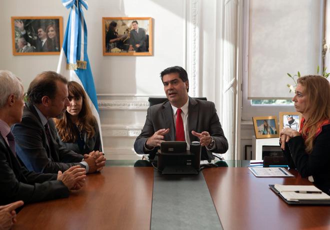 GM - Jorge Capitanich (Jefe de Gabinete de la Nacion) y Debora Giorgi (Ministra de Industria) recibieron en la Casa Rosada a Dan Ammann (presidente de GM)