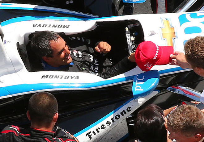 IndyCar - Pocono - Juan Pablo Montoya en el Victory Lane