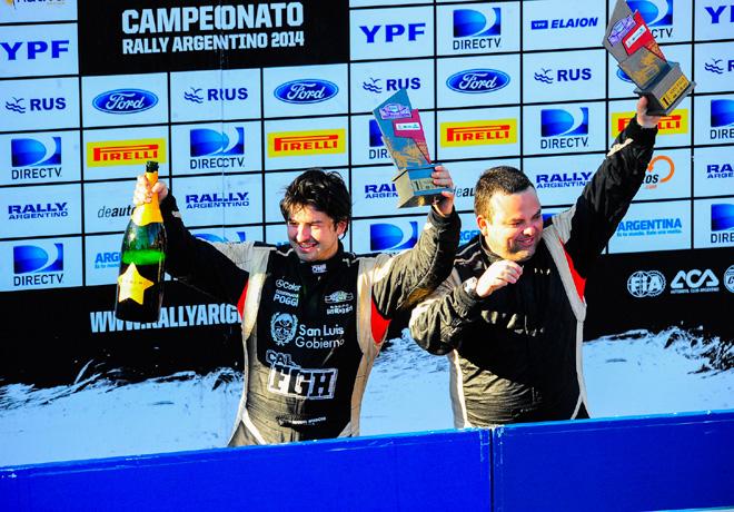 Rally Argentino - Sierras Chicas - Final - Miguel Baldoni y Gustavo Franchello en el Podio