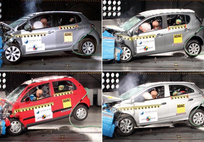 Peugeot y Fiat mejoran en ensayos de choque de Latin NCAP; Chevrolet decepciona.