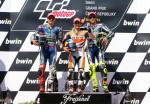 MotoGP - Brno - Lorenzo - Pedrosa - Rossi en el Podio
