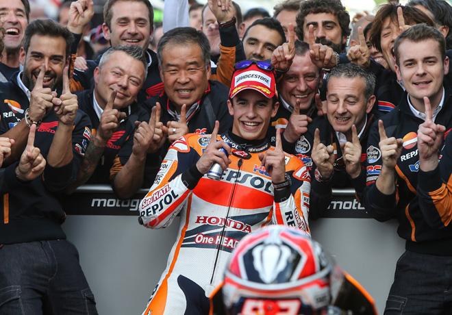 MotoGP - Silverstone - Marc Marquez y equipo