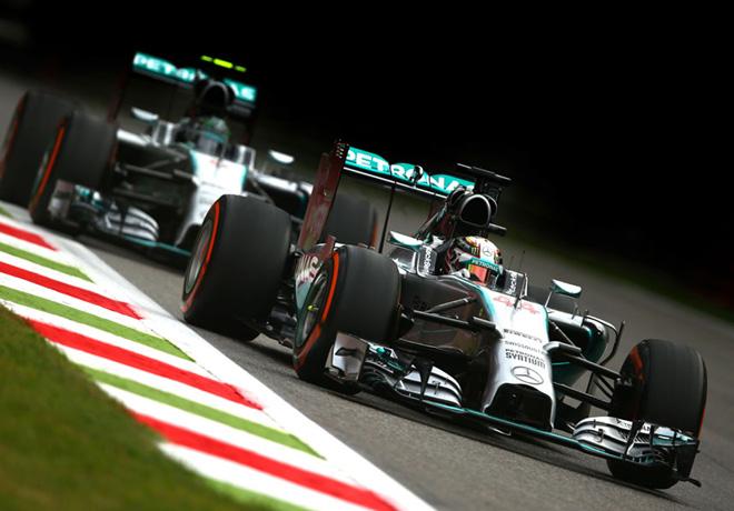 F1 - Italia 2014 - Lewis Hamilton y Nico Rosberg - Mercedes GP
