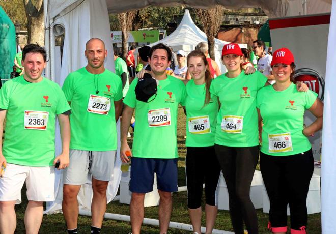 Personal de Fiat y Chrysler participaron de la Maraton Solidaria Dale Vida