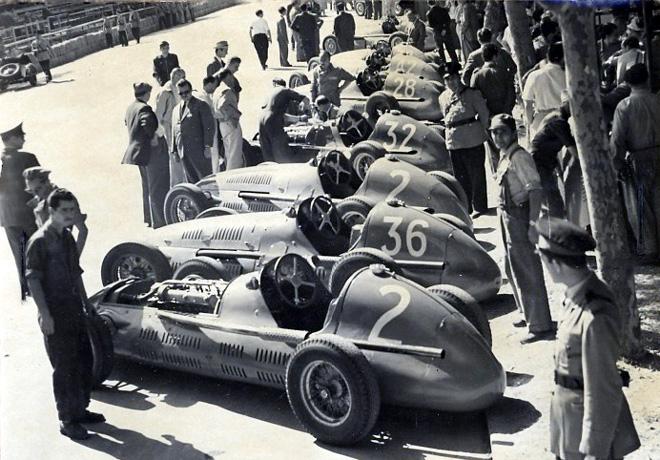 Pirelli y Maserati - Una asociacion centenaria - 1949 Box Maserati al Gran Premio Peron