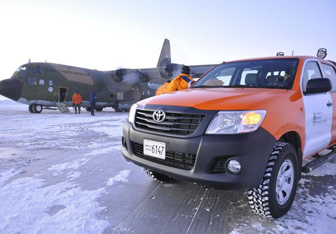 Toyota renovo su flota en la Antartida 1