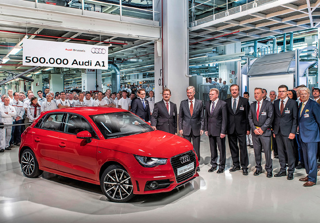 Audi celebra en Bruselas los 500.000 A1 producidos 2