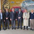 Autoridades del Ministerio de Produccion de la Provincia de Santa Fe y de la Comuna de Alvear junto a autoridades de GM Argentina