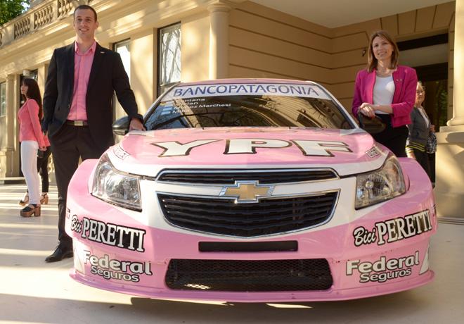 Chevrolet - Isela Costantini junto a Franco Vivian en el Gran Premio Seleccion - Copa LALCEC