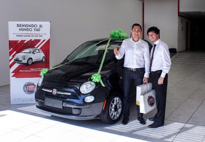 Cristian Rodriguez - ganador de la promocion Bienvenido al Mundo Fiat 2013-2014