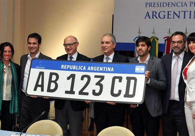 En 2016 comenzara a regir la nueva patente unificada para autos del Mercosur