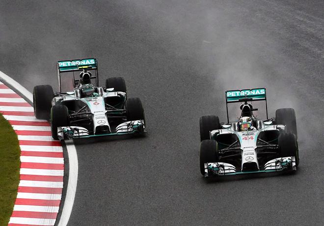 F1 - Japon 2014 - Lewis Hamilton y Nico Rosberg - Mercedes GP