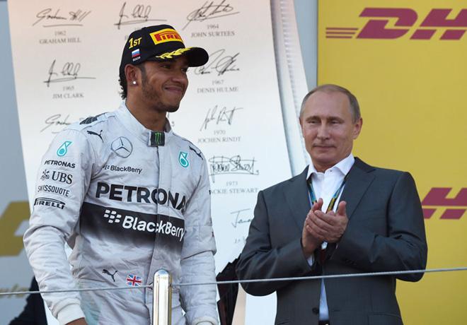 F1 - Rusia 2014 - Carrera - Lewis Hamilton en el Podio