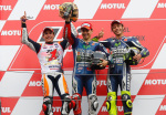 MotoGP - Motegi - Marquez - Lorenzo - Rossi en el Podio