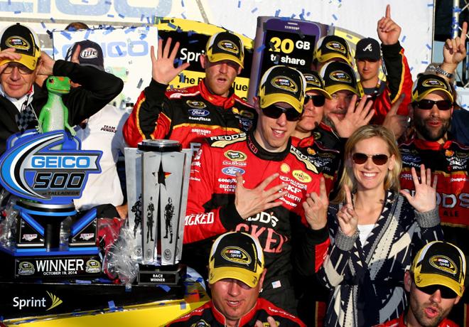 NASCAR - Talladega - Brad Keselowski en el Victory Lane