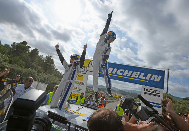 WRC - España 2014 - Final - Sebastien Ogier - VW Polo R - Campeon
