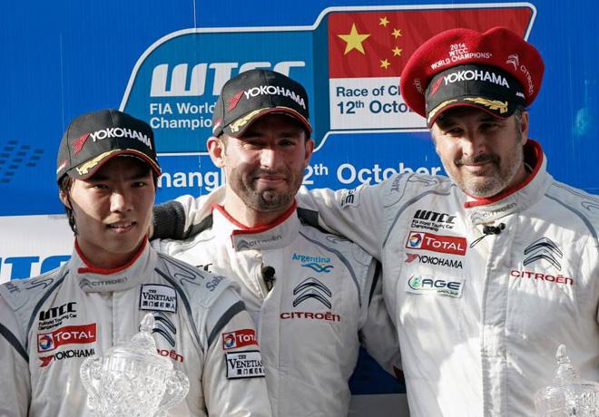 WTCC - Shanghai - El Podio de la carrera 1