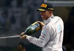 F1 - Abu Dhabi 2014 - Lewis Hamilton en el Podio
