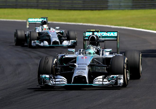 F1 - Brasil 2014 - Lewis Hamilton y Nico Rosberg - Mercedes GP