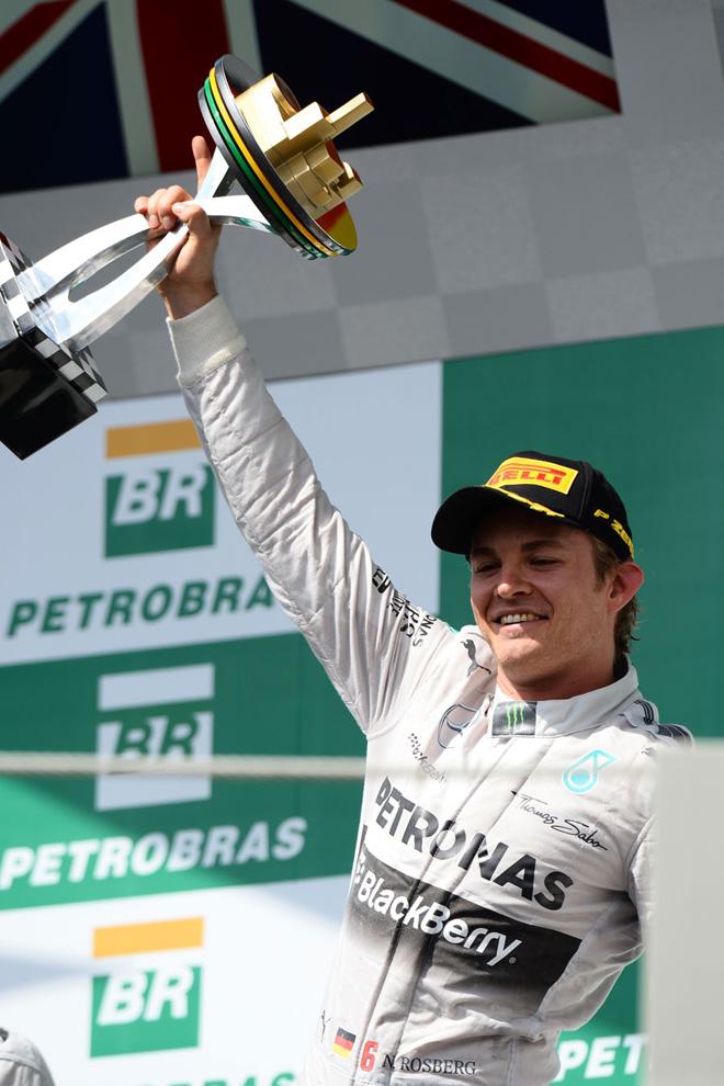 F1 - Brasil 2014 - Nico Rosberg en  el Podio