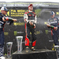 FIA World Rallycross Championship - Argentina - San Luis - Reinis Nitiss - Petter Solberg - Kevin Eriksson en el Podio